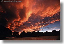 clouds, firery, horizontal, new zealand, sunsets, photograph