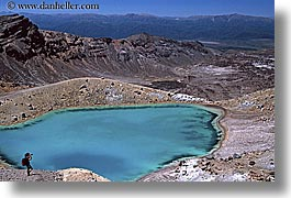 emerald, hikers, horizontal, lakes, new zealand, photographers, tongariro crossing, photograph