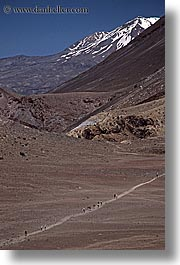 faraway, hikers, new zealand, tongariro crossing, vertical, photograph