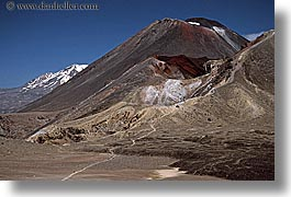 horizontal, mountains, new zealand, ngauruhoe, tongariro crossing, volcano, photograph