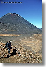 hikers, mountains, new zealand, ngauruhoe, tongariro crossing, vertical, volcano, photograph