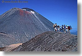 hikers, horizontal, mountains, new zealand, ngauruhoe, tongariro crossing, volcano, photograph