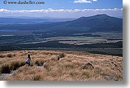 hikers, horizontal, new zealand, retetahi, tongariro crossing, tracks, photograph