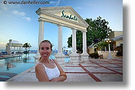 bahamas, capital, capital city, caribbean, cities, dan jill, eve, evening, horizontal, island-nation, islands, jills, nassau, nation, pools, resort, royal bahamian, sandals, tropics, vacation, photograph