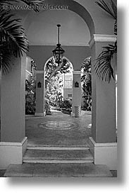 archways, bahamas, black and white, capital, capital city, caribbean, cities, island-nation, islands, nassau, nation, resort, royal bahamian, sandals, tropics, vacation, vertical, photograph