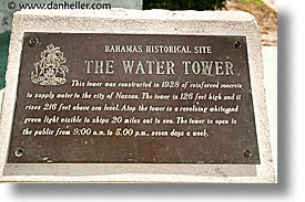 bahamas, capital, capital city, caribbean, cities, horizontal, island-nation, islands, nassau, nation, signs, towers, tropics, water, water towers, photograph