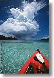 clouds, kayaks, palau, red, tropics, vertical, photograph