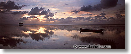 canoes, horizontal, palau, panoramic, scenics, sunsets, tropics, photograph
