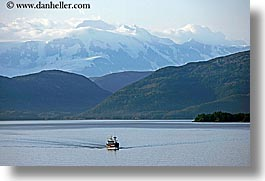 alaska, america, boats, horizontal, mountains, north america, ocean, united states, photograph