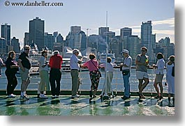 alaska, america, crowds, cruise ships, deck, horizontal, north america, people, united states, photograph