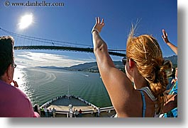 alaska, america, bridge, cruise ships, deck, fisheye lens, horizontal, north america, people, united states, photograph