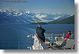 alaska, america, cruise ships, deck, horizontal, mountains, north america, people, united states, photograph