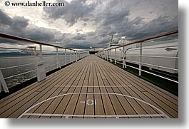 alaska, america, cloudy, cruise ships, deck, horizontal, north america, tops, united states, photograph