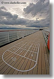 alaska, america, cloudy, cruise ships, deck, north america, tops, united states, vertical, photograph