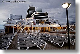 alaska, america, chairs, cruise ships, deck, eve, evening, horizontal, north america, united states, photograph
