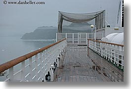 alaska, america, cruise ships, deck, foggy, horizontal, north america, united states, photograph