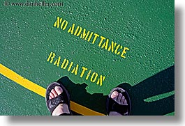 alaska, america, cruise ships, horizontal, north america, radiation, signs, stencil, united states, photograph