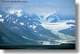 alaska, america, distant, glaciers, horizontal, north america, united states, photograph