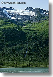 alaska, america, glaciers, mountains, north america, tops, united states, vertical, photograph