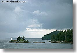 alaska, america, horizontal, islands, lighthouses, north america, united states, photograph