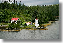 alaska, america, horizontal, lighthouses, north america, red, roofs, united states, photograph