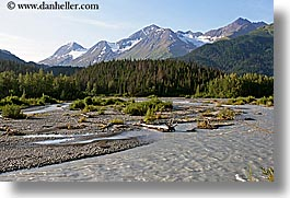 alaska, america, glacial, horizontal, mountains, north america, rivers, runoff, united states, photograph