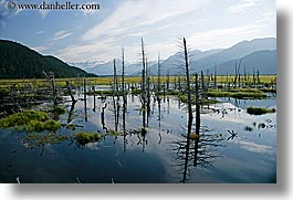 alaska, america, horizontal, mountains, north america, reflections, rivers, united states, photograph
