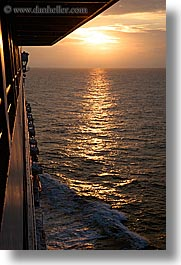 alaska, america, cruise ships, north america, sun ocean, sunsets, united states, vertical, photograph