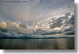 alaska, america, clouds, horizontal, north america, ocean, sky, sun ocean, symmetry, united states, water, photograph