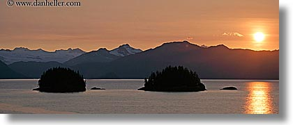 alaska, america, horizontal, mountains, north america, panoramic, sun ocean, sunsets, united states, water, photograph