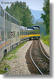alaska, america, north america, trains, united states, vertical, photograph