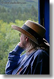 alaska, america, hats, north america, trains, united states, vertical, womens, photograph