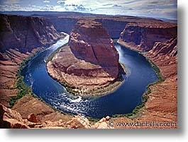 america, arizona, bend, canyons, desert southwest, horizontal, horseshoe, horseshoe bend, north america, rivers, united states, western usa, photograph