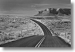 america, arizona, black and white, desert southwest, horizontal, monument, monument valley, north america, united states, valley, western usa, photograph