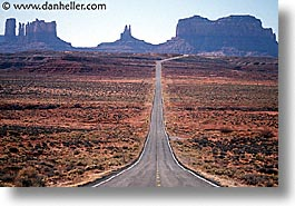 america, arizona, desert southwest, horizontal, monument, monument valley, north america, roads, united states, valley, western usa, photograph