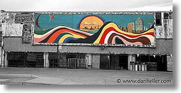 america, arizona, color composite, color/bw composite, desert southwest, horizontal, murals, north america, tucson, united states, western usa, photograph