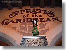 america, disney, florida, horizontal, magic kingdom, north america, orlando, parrots, pirates, slow exposure, united states, photograph