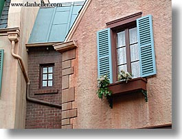 america, disney, florida, french, horizontal, north america, orlando, united states, windows, photograph