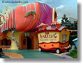 america, dr seuss, everything, florida, horizontal, north america, orlando, united states, universal, wagons, photograph