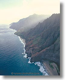 america, hawaii, mountains, north america, shores, united states, vertical, photograph