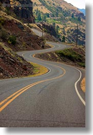america, hells canyon, idaho, north america, roads, united states, vertical, winding, photograph