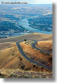 america, around, idaho, landscapes, north america, roads, trees, united states, vertical, winding, photograph