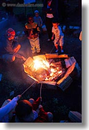 activities, america, boys, campfire, childrens, fire, idaho, marshmellows, north america, people, red horse mountain ranch, roasting, united states, vertical, photograph