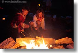 activities, america, boys, campfire, childrens, fire, girls, horizontal, idaho, marshmellows, north america, people, red horse mountain ranch, roasting, united states, photograph