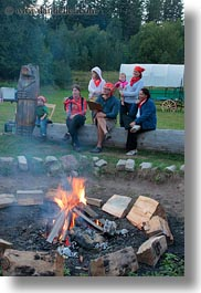 activities, america, around, campfile, campfire, fire, idaho, north america, people, red horse mountain ranch, united states, vertical, photograph
