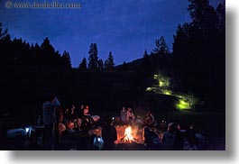 activities, america, around, campfile, campfire, fire, horizontal, idaho, north america, people, red horse mountain ranch, united states, photograph