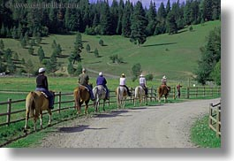 activities, america, clothes, hats, helmets, horizontal, horseback riding, horses, idaho, north america, people, red horse mountain ranch, riding, united states, photograph