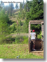 activities, america, clothes, guns, hats, idaho, north america, red horse mountain ranch, rifle, riflery, sean, shooting, united states, vertical, photograph