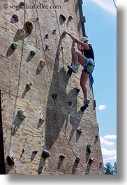 activities, america, climbing, idaho, north america, people, red horse mountain ranch, united states, vertical, wall climb, walls, womens, photograph