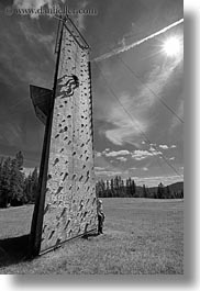 activities, america, black and white, climbing, idaho, north america, red horse mountain ranch, united states, vertical, wall climb, walls, photograph